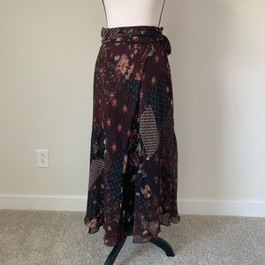 Polo Ralph Lauren printed silk skirt